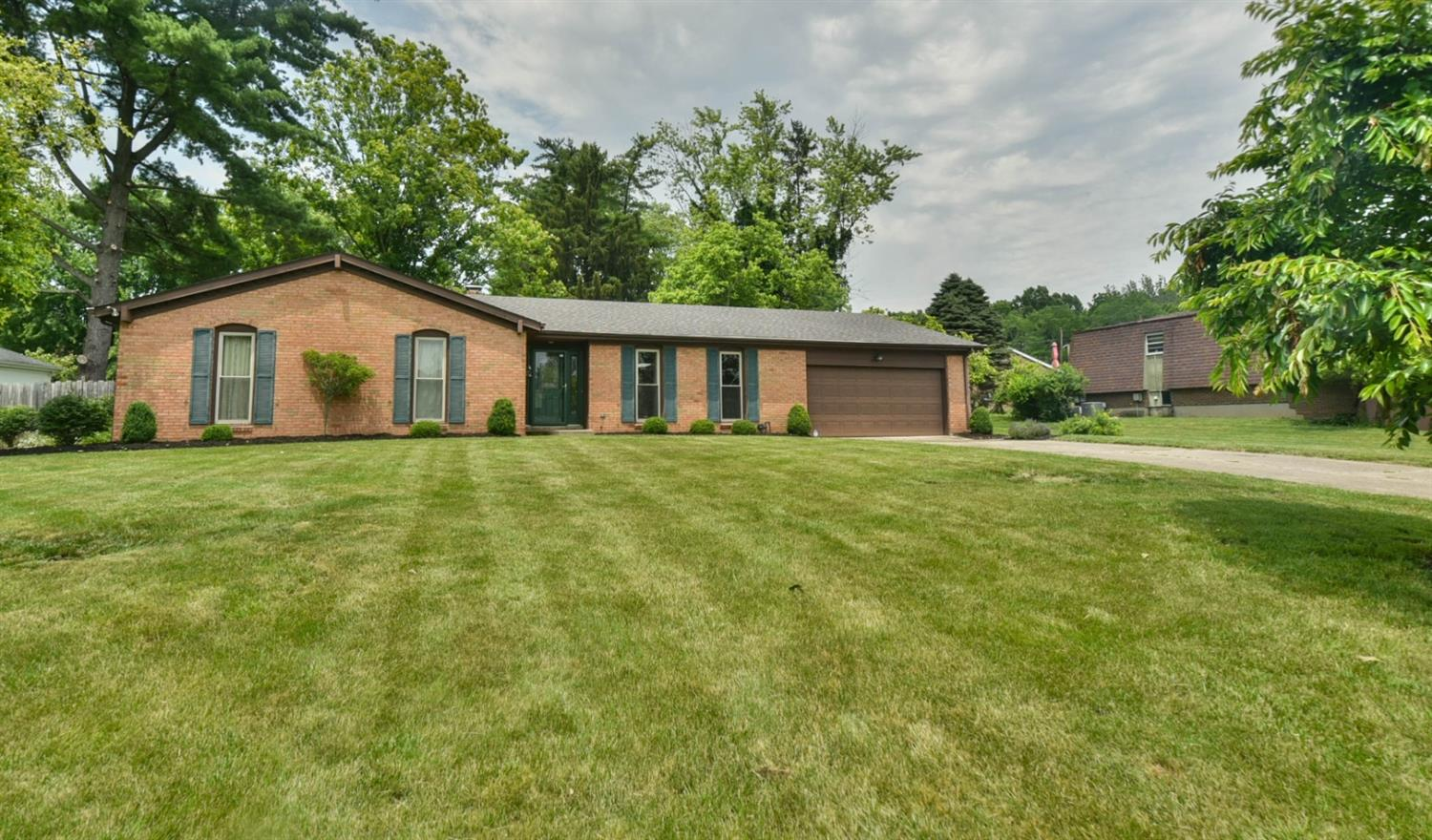 Fantastic brick ranch with open floor plan! Updated kitchen and bathrooms. Thick plank hardwood floors. Partially finished basement and two car garage. New roof, newer AC and Furnace. Awesome above ground pool that can be removed by the seller if buyer doesn't want it. This is a beautiful home.
