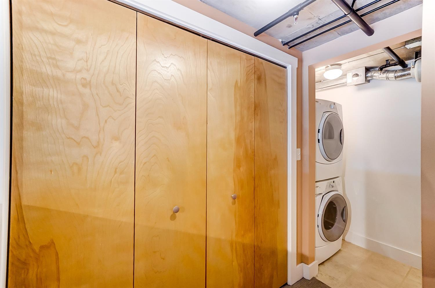 In-unit laundry. Washer and dryer stay!