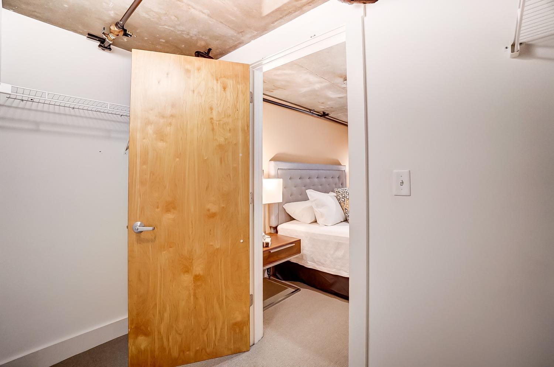 Spacious walk-in closet in primary bedroom