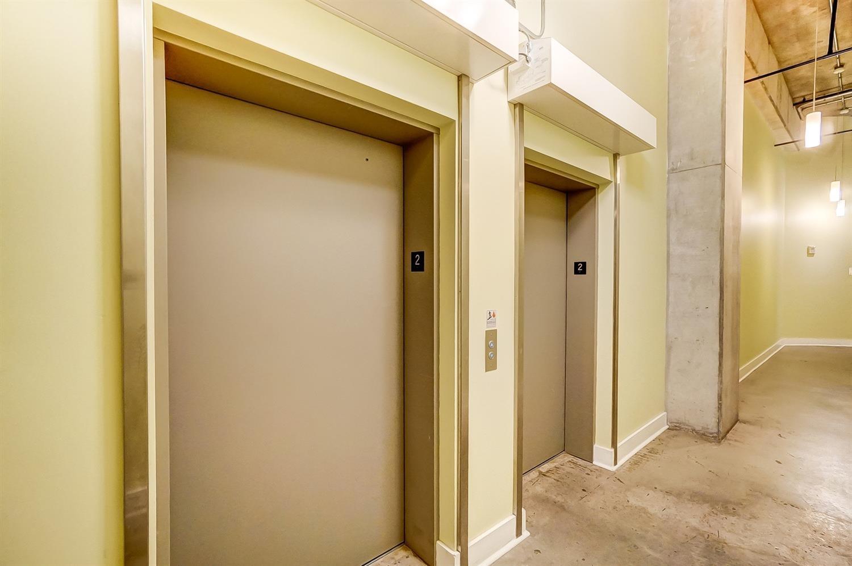 Elevators in building make moving so easy!