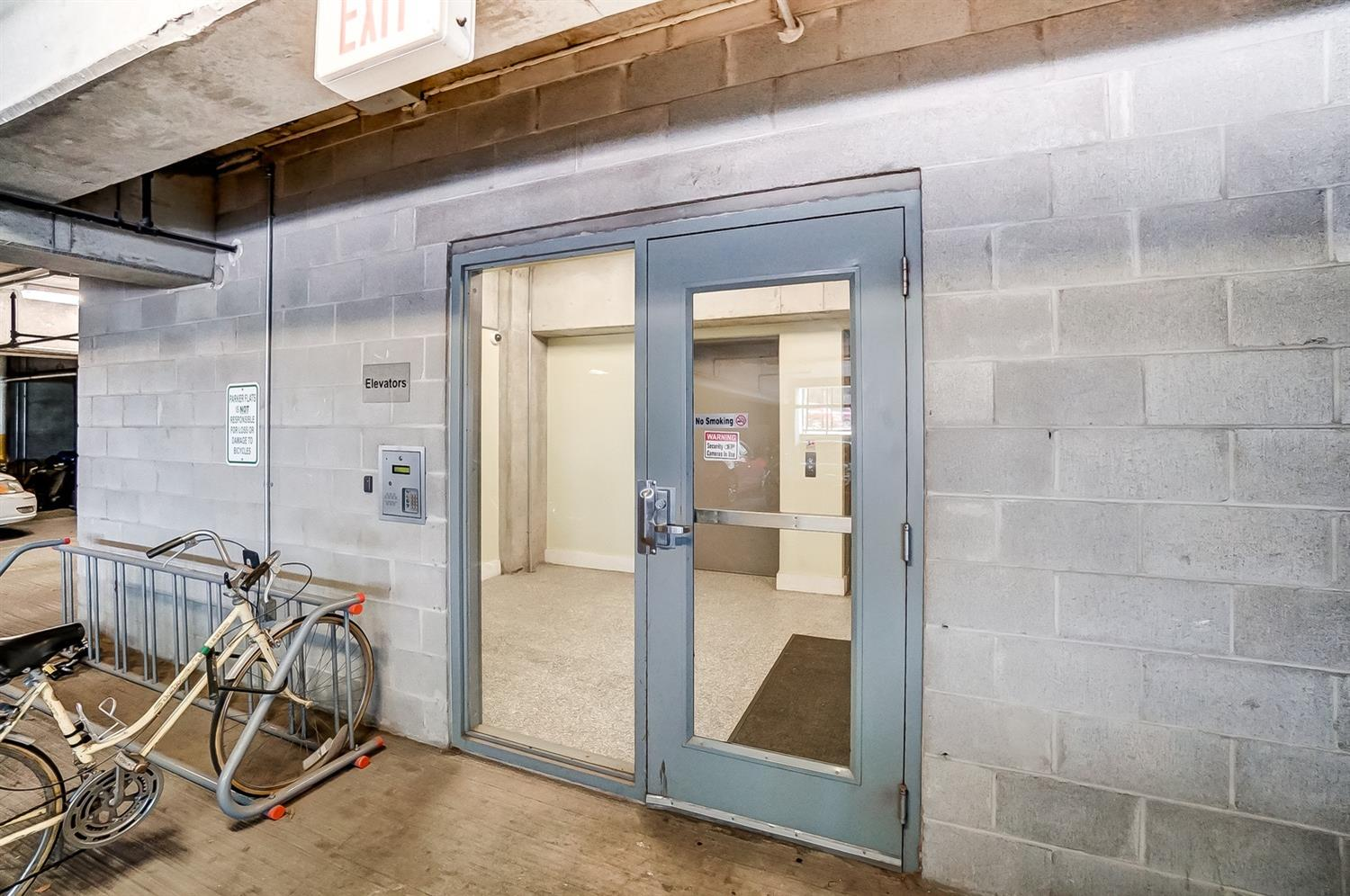 Secure building with access from the garage and from the street