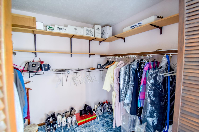 Roomy walk in closet
