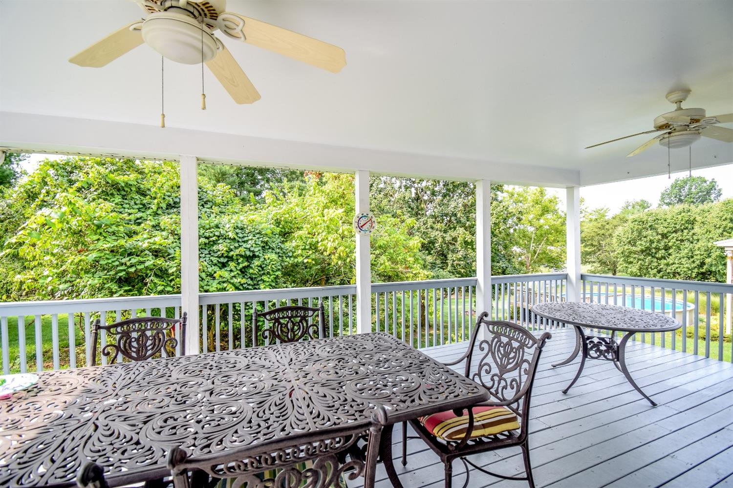 Covered deck walkout from family room