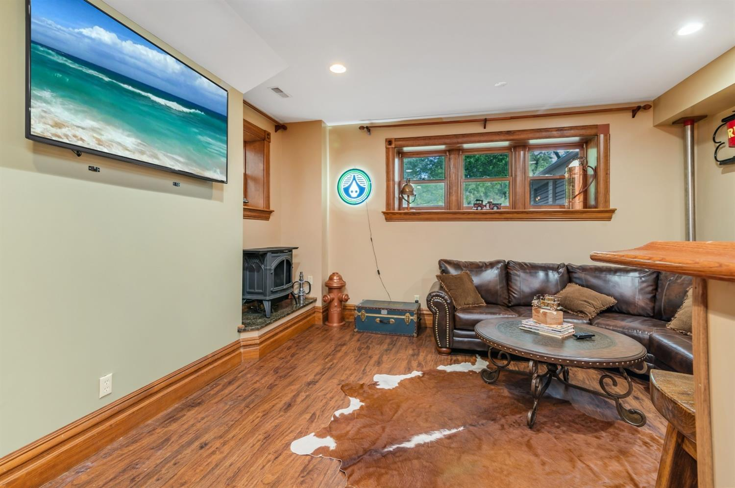 Spacious enough to make a living suite for help/multi generational living, or keep as your hide away!