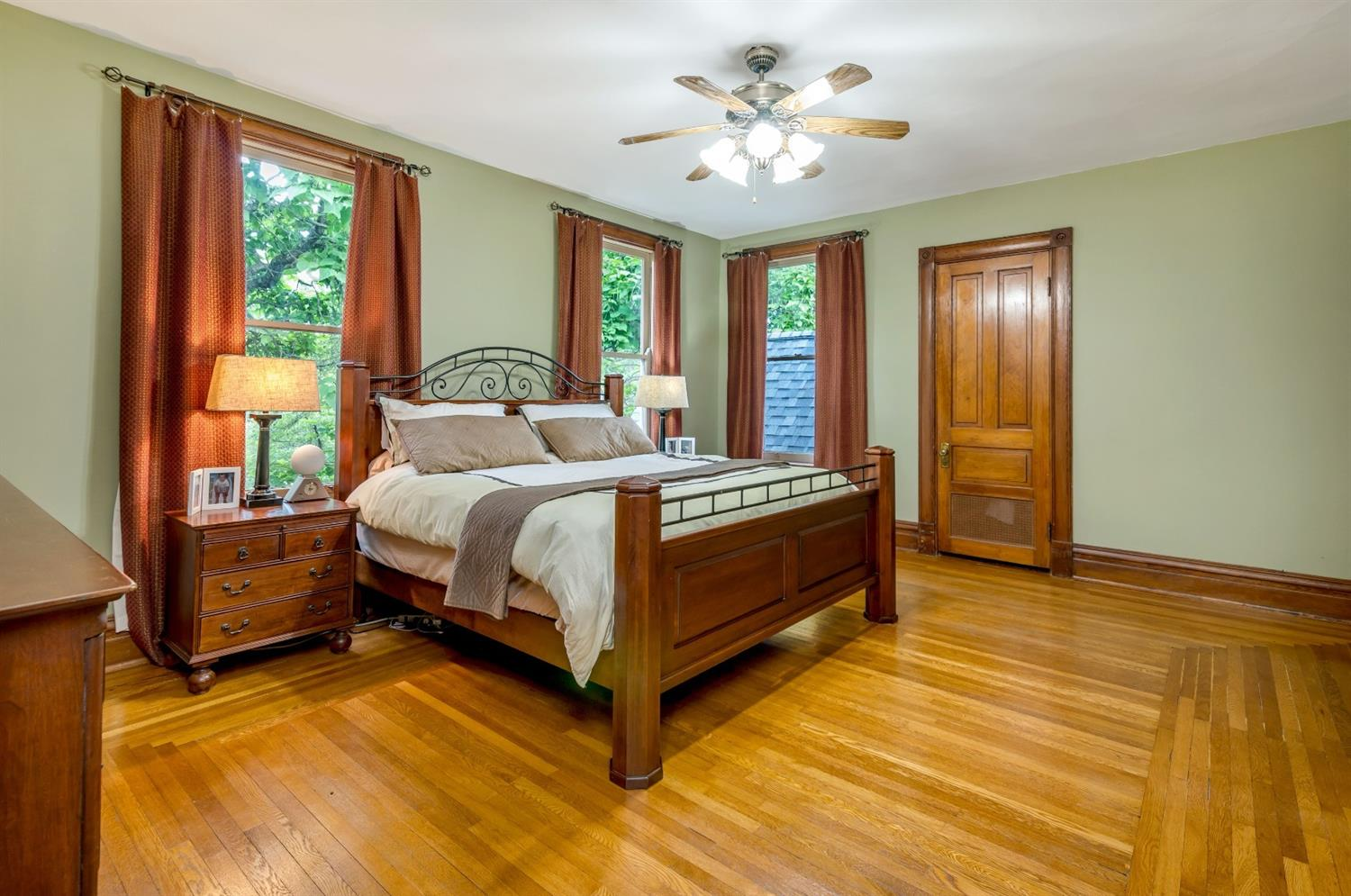 The primary bedroom suite offers 2 walk-in closet, attached bath and sitting room with fireplace.