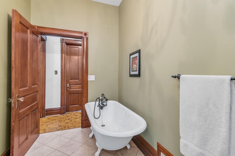 Charming Victorian claw tub on 1st floor bath.