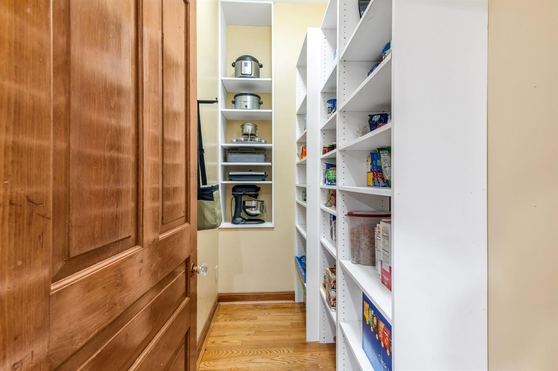 Nice pantry off kitchen.