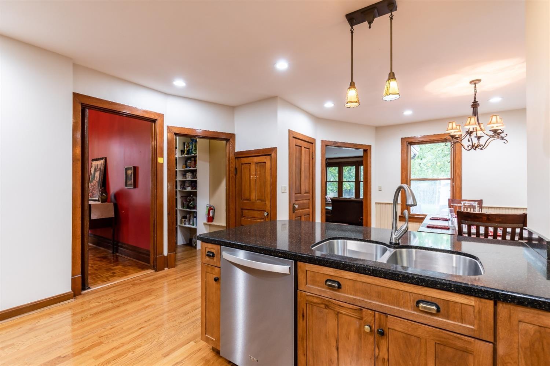 Large pantry adjoins kitchen. Door leads to Studio.