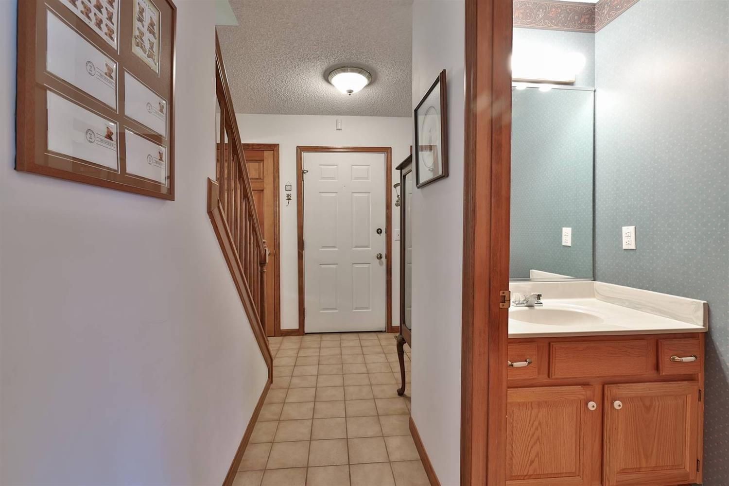 Half bath on first floor perfect for your guests.