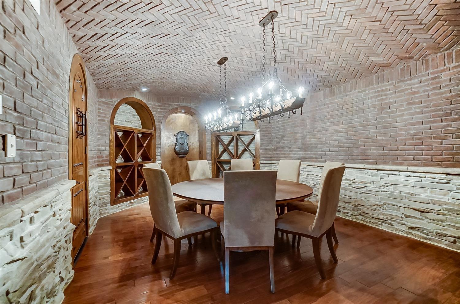 A wine room large enough for