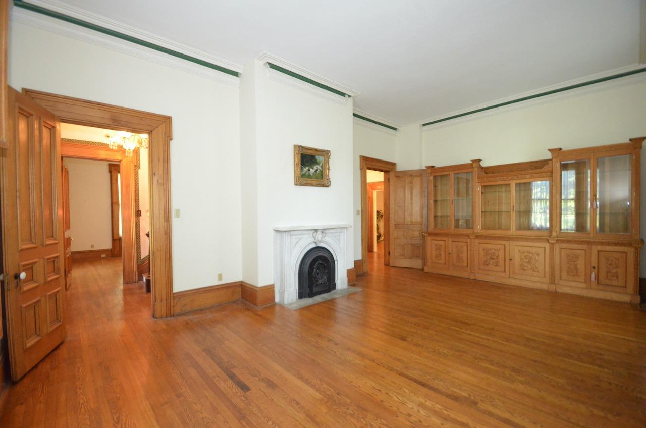 Another view of the Ladies' Parlor.  Cabinetry included!  Check out the original doors and woodwork in this room.  It's spectacular!