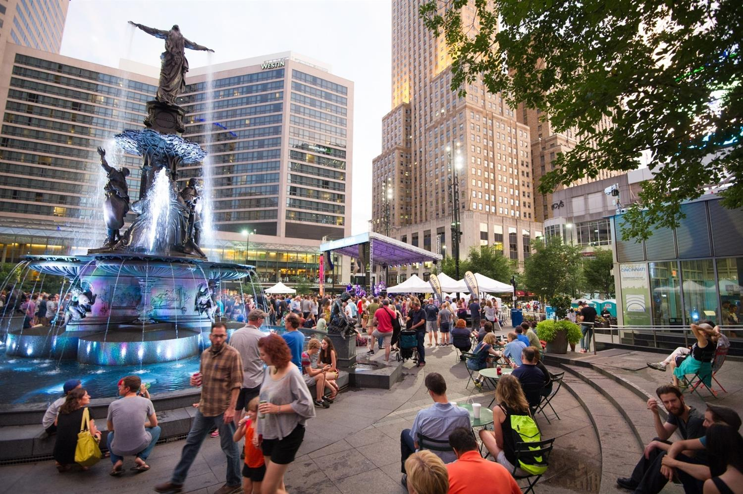Our thriving city offers a multitude of entertainment options, free concerts on the square, watch the games from the jumbotron, ice skating in the winter, Salsa Thursdays! You'll never have the option to be bored in the suburbs again!