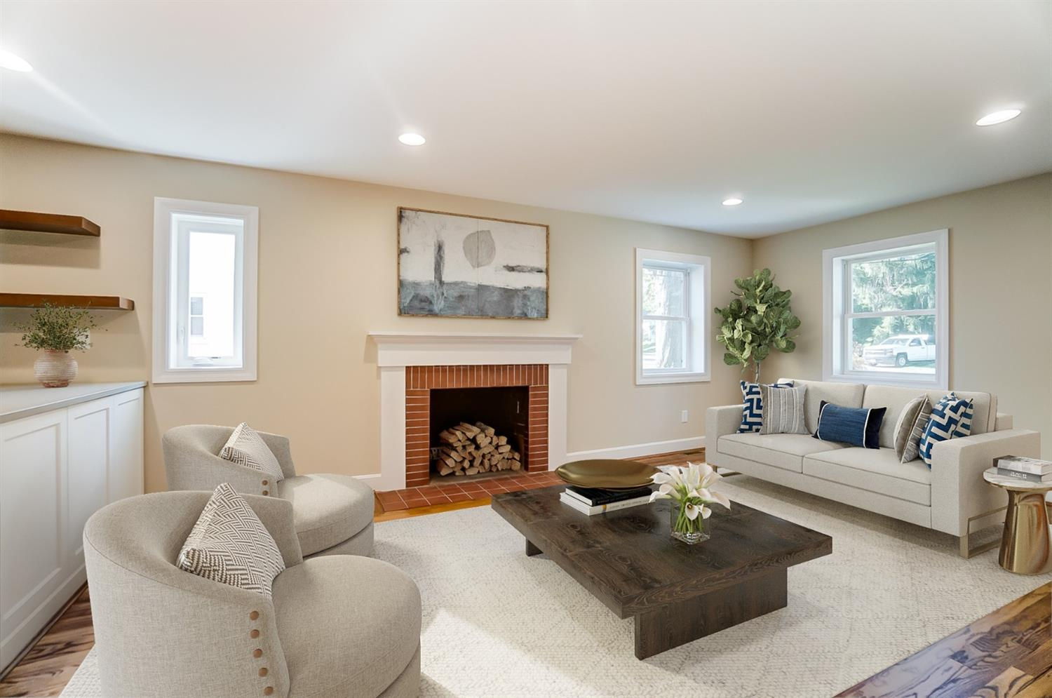 Virtual Staging: Living Room