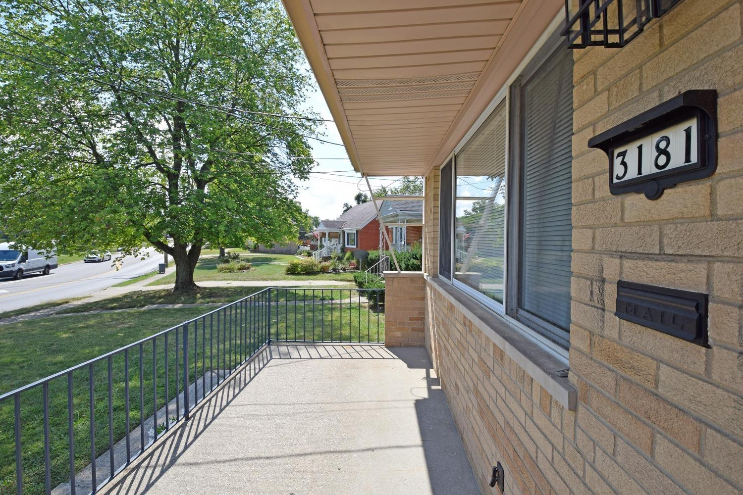Front porch view of the street