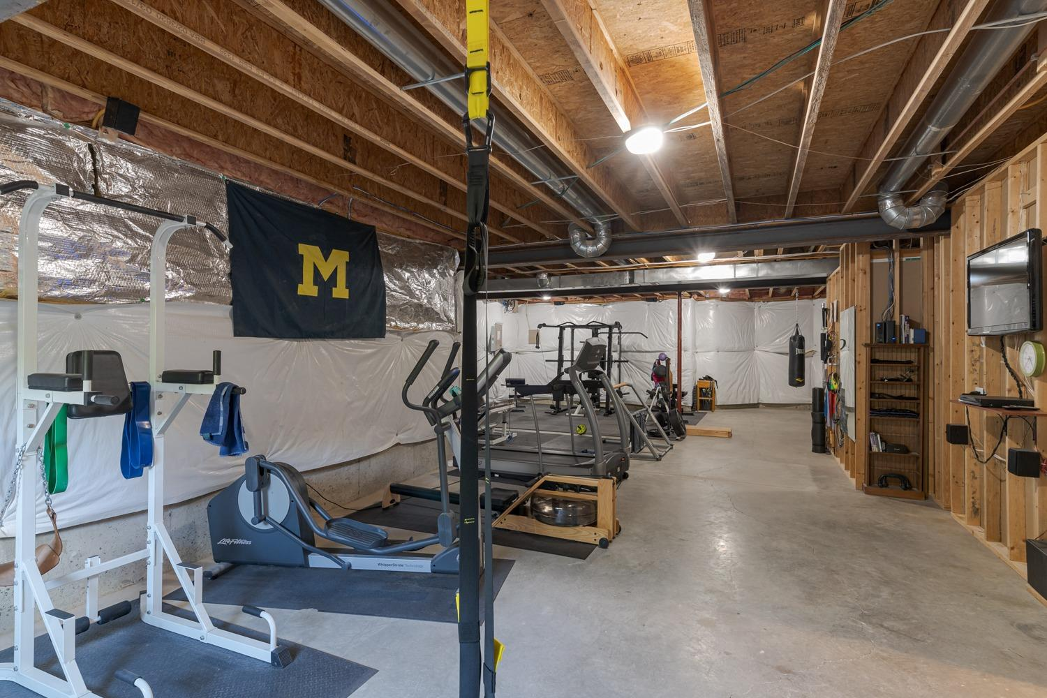 Lower level exercise room (Hail to the Victors…) and a tremendous amount of storage!