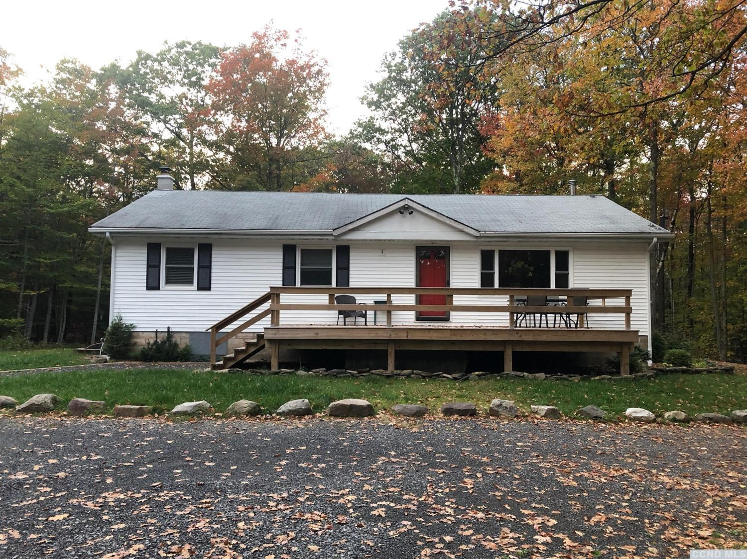 Nicely updated ranch tucked away on 5 private acres. Appliances, furnace, oil tank, hot water heater and septic system are all new as of 2012.New chimney and footing for 2nd chimney. Basement has been dry locked. New insulation in attic. Large 2 car 2 story garage with heat and electric. Albany 45 min., Ski Windham 30 min. 5 min to Huyck Preserve, great place to hike, bird watch, kayak and swim.
