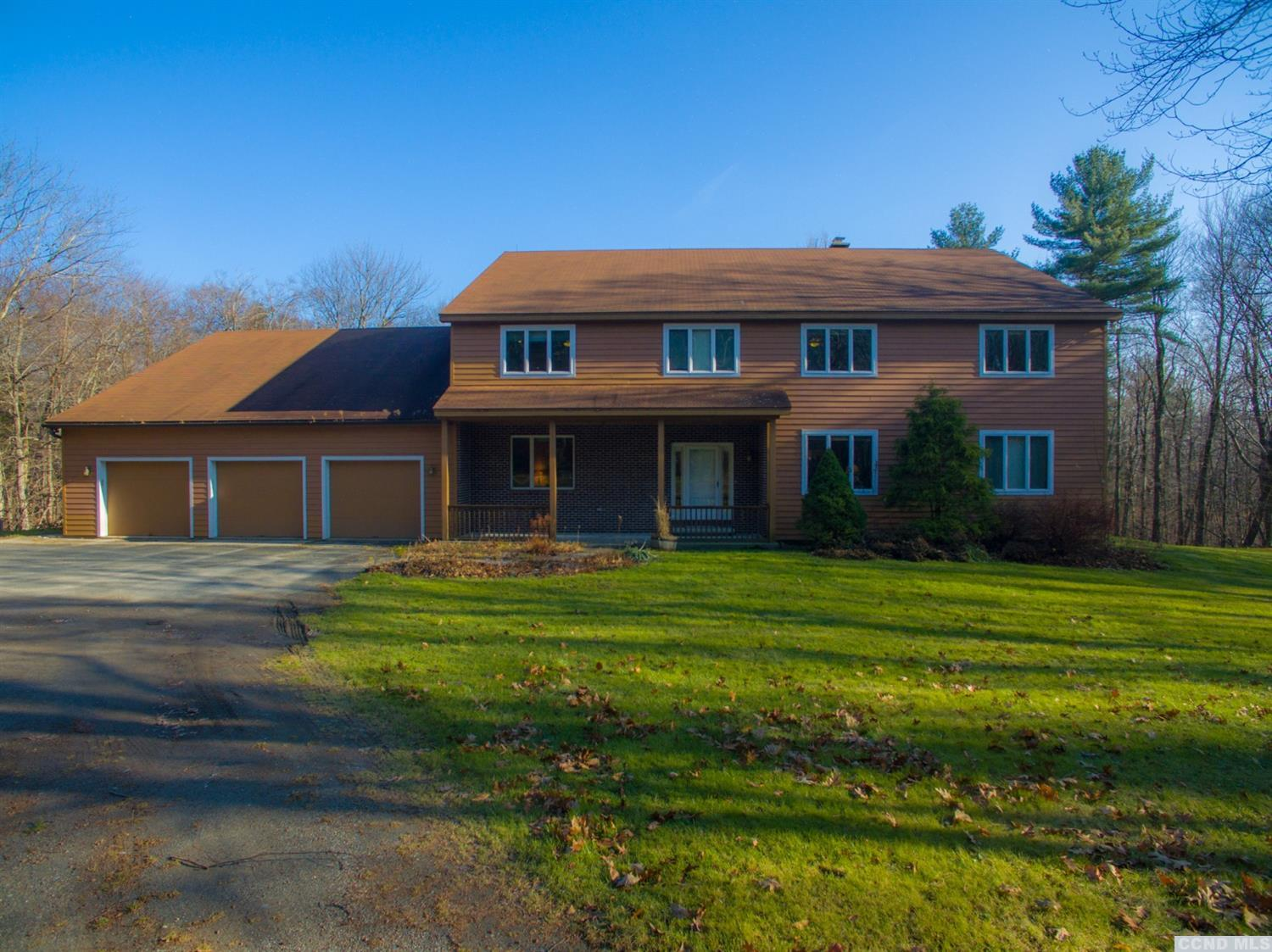 Bring family and friends to this 8 bed 7 bath getaway or permant home. Featuring 2 family rooms 2 master bedrooms (one on 1st floor). Privately located on 34 wooded acres. A short drive to ski areas, Thruway, Taconic Parkway.<br>Easy drive to Tanglewood, Stockbridge and Hudson.  <br>Over 6,500 sqft of Geo-Thermally heated space.