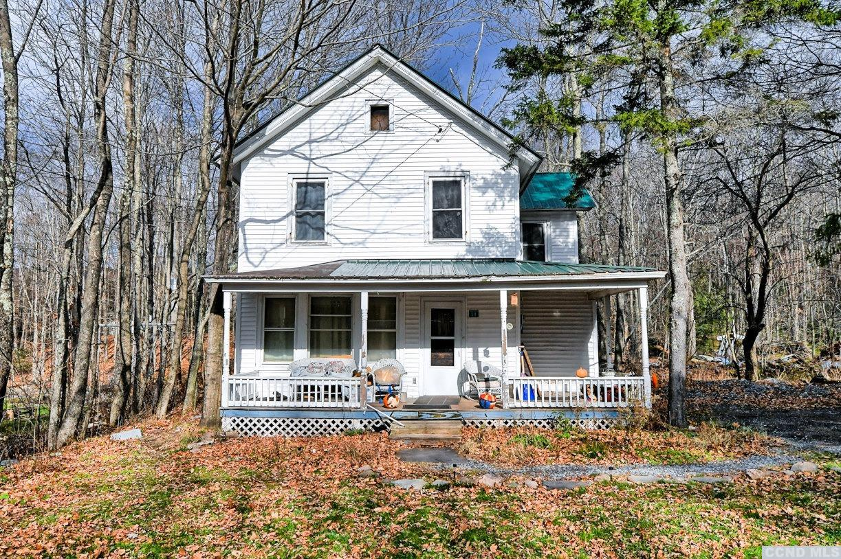 A 4 to 5 Bedroom, 1 Bath, 2 Story Home on North Lake Rd in Haines Falls! The home features a living room with a stone fireplace, an office or a small bedroom, a kitchen, & a dining area on the 1st floor. On the 2nd floor, there are 4 bedrooms, 1 full bath, and stairs to a walk-up attic for storage. There's a front covered porch, a back covered deck, and front & rear yards. The home is down the road from North-South Lake which is an 1,100 acre state campground in the Catskill Forest Preserve where you can boat, kayak, fish, hike, swim, and observe the beauty of nature. The home is just 12 to 15 minutes to Hunter Ski Mountain. The interior pictures of the home were taken before the tenant occupancy.