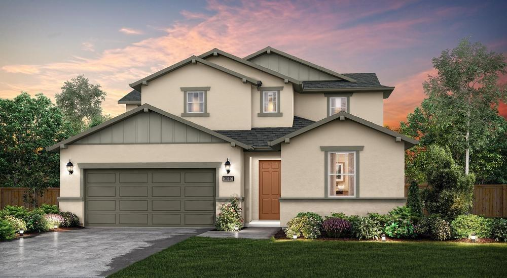 ***Quick Move In*** The elegant Saffron floorplan by Century Communities at The Crossings welcomes you into an entertainer's dream home. This  home has spacious interiors that lead you to your formal dining room, great room, and an open nook overseeing into the beautiful gourmet kitchen. The gourmet kitchen boasts granite counter tops with accent backsplash, generous island, and spacious walk in pantry. An isolated bedroom and full bath are available downstairs for guests. Upstairs you are welcomed by a spacious loft perfect for additional entertaining. Walk down the hall, passing two additional bedrooms and full bathroom, arriving at your own private oasis and Owner's Suite. Owners bath furnished with dual vanities, and an enormous walk-in closet with wood shelving. Distinctive features with all the comforts of energy efficiency, including dual zone HVAC Dual Pane Windows and Tank-less Water Heater. Please note, picture is not of actual home.
