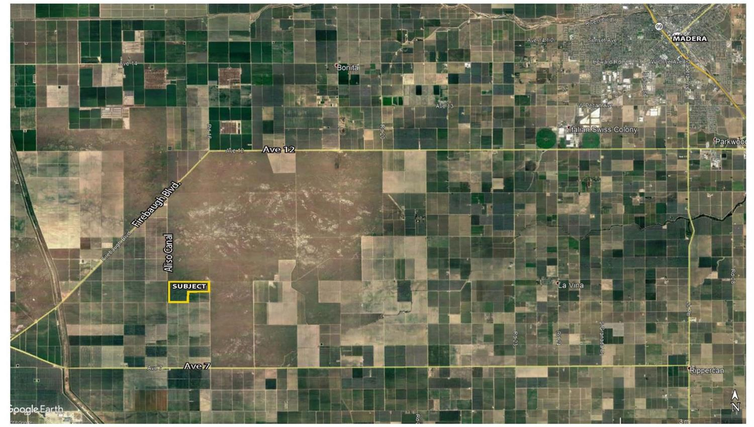 Approximately 231 net acres of producing Nonpareil/Monterey/Fritz almonds in Madera County. There are 2 pumps and deep wells to irrigate the orchard thru a filtered micro fan jet system.