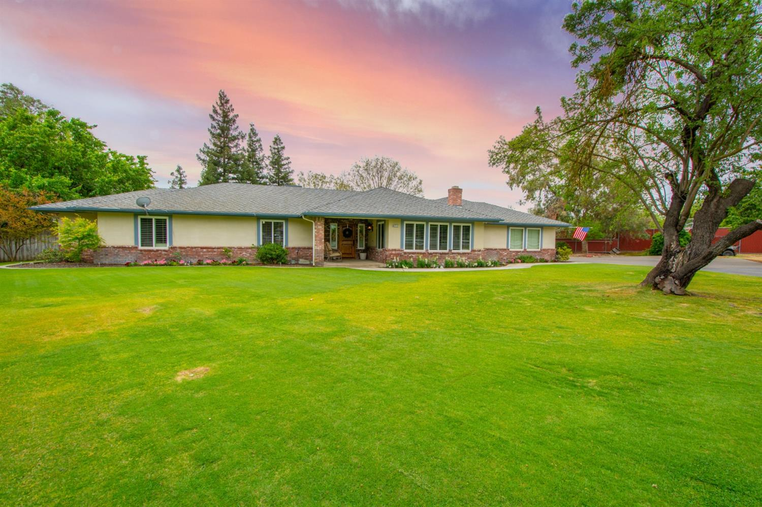 Here is your chance to own a piece of upscale country living in Northwest Fresno. Situated on a 2.12 acre lot, this 2700 + square foot custom ranch style home is located in a well-established, quiet, neighborhood. Tucked away at the end of the cul-de-sac you will find what is sure to be your family's new dream home. Driving down your long private driveway will help you escape after a long day at work. Surrounded by what feels like your own private park gives way to a 1200 square foot shop located in the rear of the property. The inside offers you 2 master suites suitable for large or multigenerational families as well as a custom chef's kitchen fit for an entertainer's dreams. For those hot Summer days when you aren't cooling off in the pool, there is a massive OWNED solar system capable of keeping your home nice and cool. Make your appointment today to see 6713 W Rialto Ave Fresno, CA 93723 to see the endless opportunity this home offers to make your family's dreams come true!