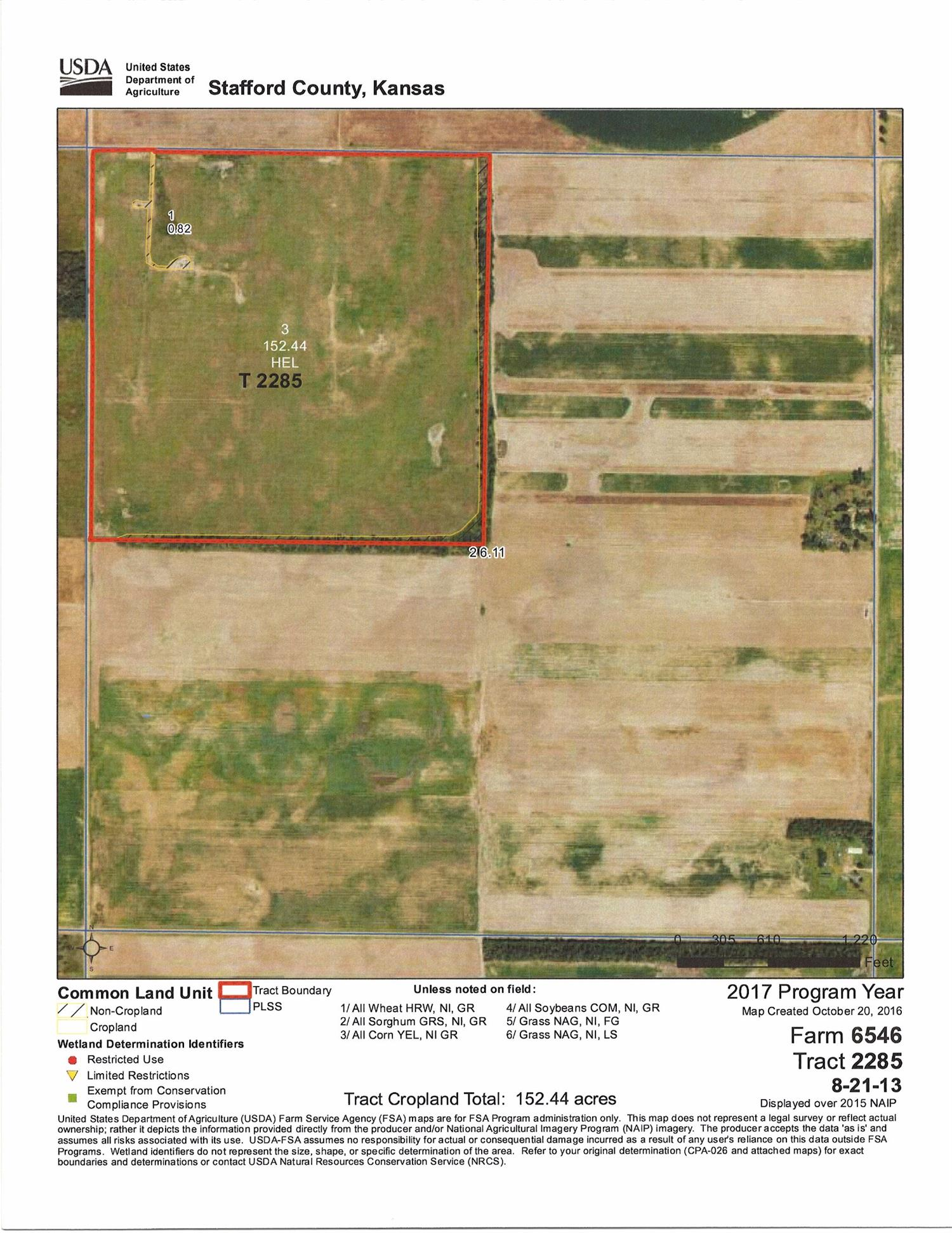 Good dry cropland quarter selling with surface rights only. 159.37+ total acres with 152.44+ cultivated acres, 6.93+ acres of trees & waste. Livestock well.  FSA Information: 94.2 Wheat Base, 36.4 Corn Base.