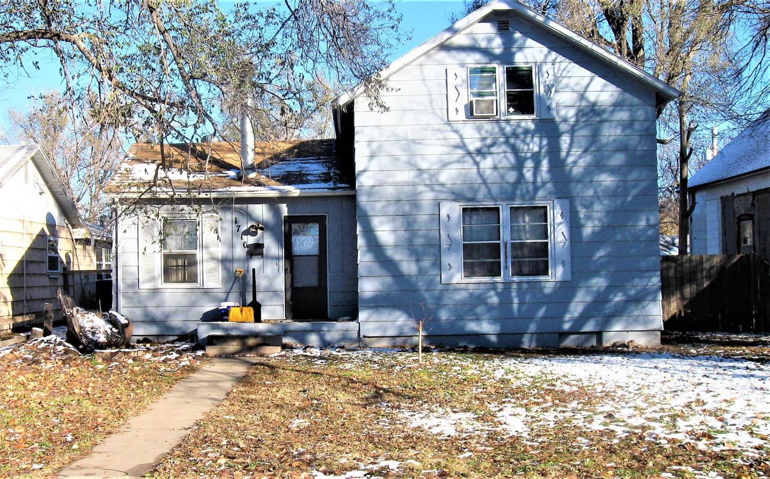 Lots of room in this 2 story home with privacy fence. Property selling in its present condition, as is, where is with no warranties expressed or implied.