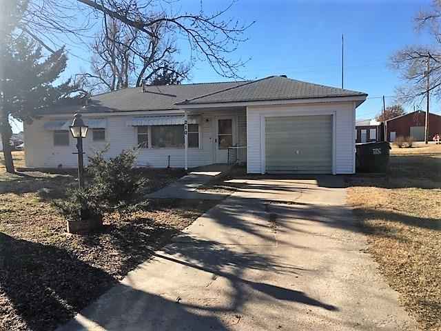 Great starter home in a small town. 3 bedroom, 1 bath, CH/CA, single attached garage on a large lot.