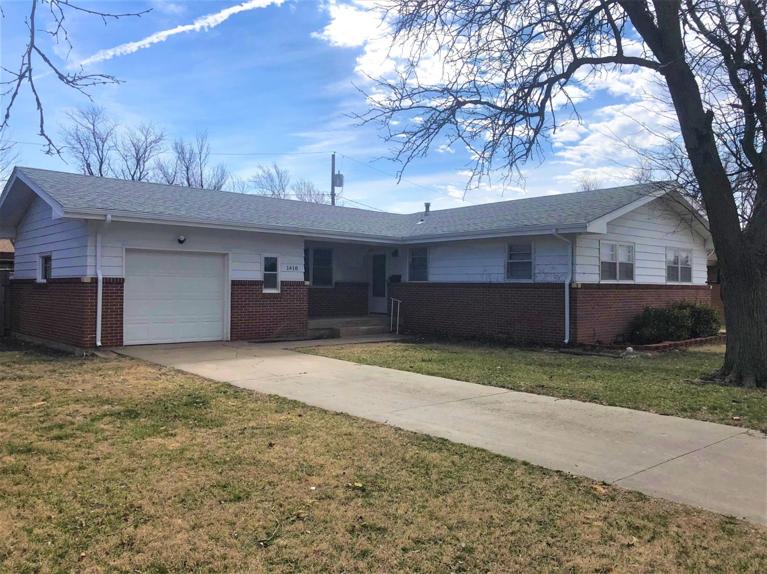 Must see this totally updated brick and sided ranch style home freshly painted and new flooring throughout, spacious livingroom, updated kitchen, with granite countertops, tile back splash, and tile floor, 3 bedrooms, 1 bath, 1,194 sq. ft., FA & CA, covered patio, dog run, fenced backyard and attached garage with bonus storage.