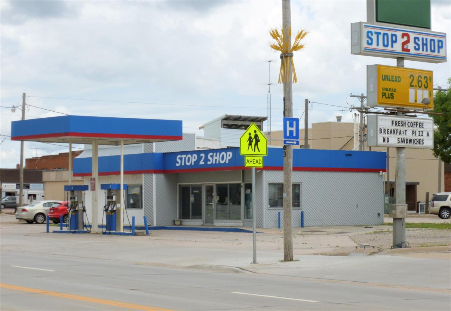 Convenience Store with in-door restrooms, located on major highway near downtown Ellinwood. Selling with all fixtures except computer.