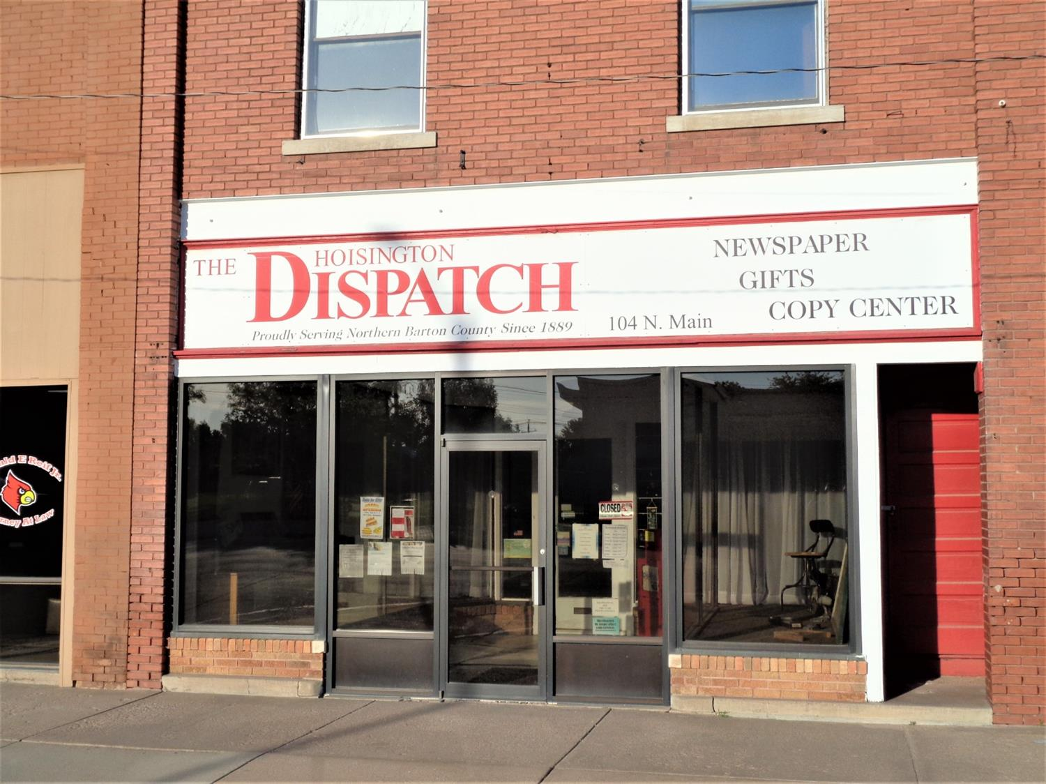 Great storefront in downtown Hoisington. There is 3,250 sq. ft. on main level and a full basement. The second story has 1,000 sq. ft. that's perfect to remodel into an apartment for extra income. The business is not for sale only the building.