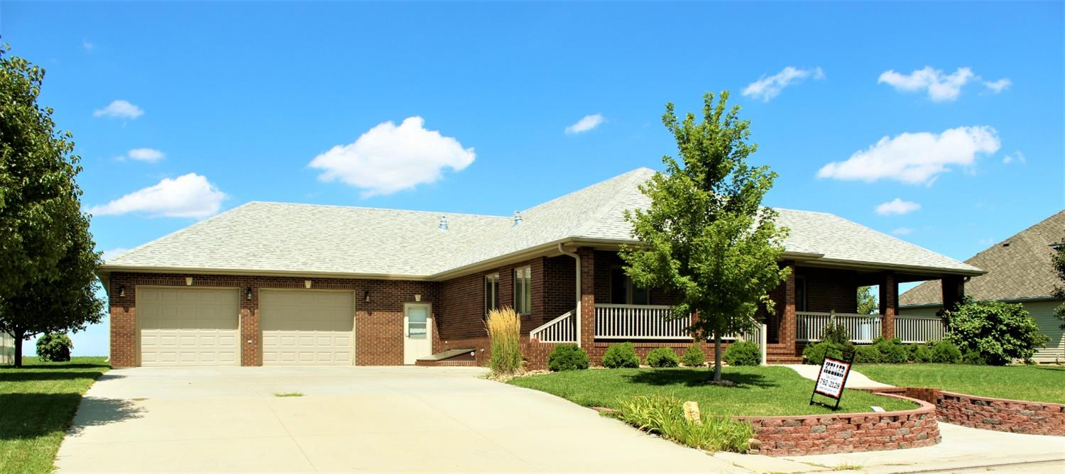 This home was built in 2010. Very nice 3 bedroom, 3 bath brick home with unique floor plan. Lots of closets and storage. Mother in law suite in the basement. Geothermal heating unit.  Oversized 2 car garage.