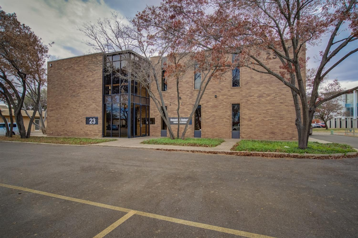 Beautifully and completely renovated, 2 story office building located in heart of the recently revived and growing Briercroft Office Park. This is one you MUST SEE. Mature and well manicured landscaping surrounds the building. The building features multiple private offices overlooking large open spaces perfect for cubicles or an open office concept. Both floors have men and women's private restrooms, large conference areas and large break rooms with appliances. This building is turn key ready for a newly established or growing business with quick and easy access to anywhere in Lubbock