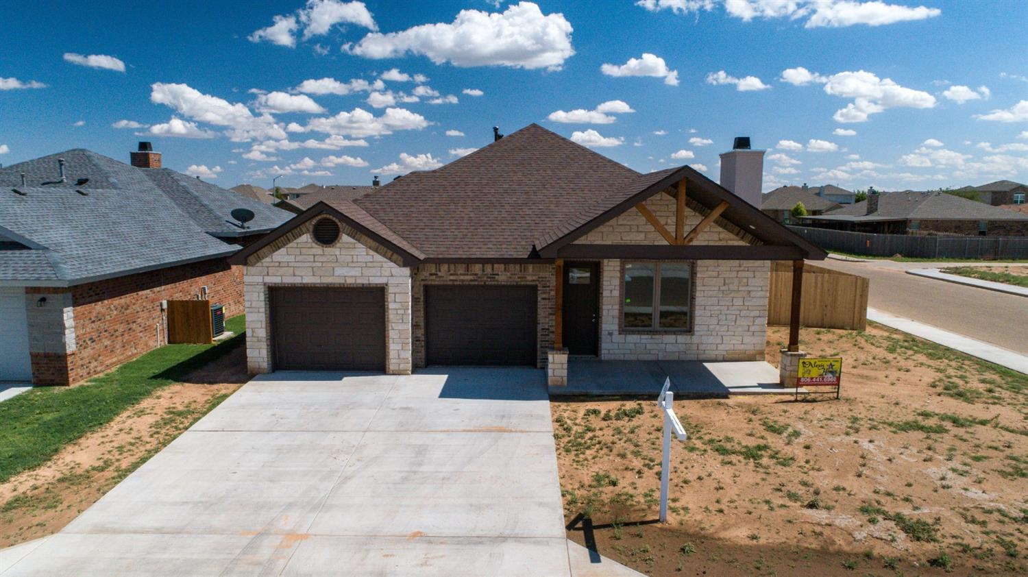 Definitely one of the Best Houses Alexis Homes of Lubbock has built!!! You will Love the Huge Living area and the Massive Kitchen with everything the cook could want!!! Great Isolated Master bedroom with a 10'X 10' closet and built-in Dresser. Covered Patio and a Corner Lot. Plus Foamed insulation in the attic.  Check out the Virtual Media Tab.