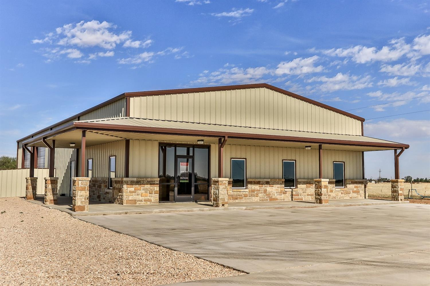 5,000 SF office / warehouse which includes, well, septic, concrete drive, fully fenced stack yard, and two 14' x 14' overhead doors. Located on a one acre stack lot with 6' metal fencing on FM 1585 right before CR 1300. Loop 88 will pass right in front of the property for easy access. Tenant occupying space. Clear Height: 16'; Overhead Doors: Two - 14'x14'; Fenced: 20' Sliding Gate; Utilities: South Plains Electric Co Op and South Plains Telephone & Internet; Leased Through 9/30/2020