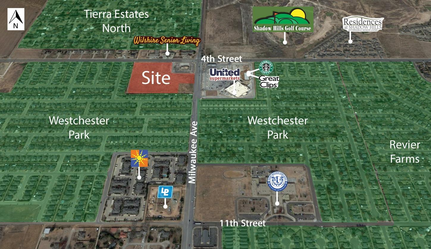 A very desirable 9.187 acre tract for commercial development in fast growing NW Lubbock. Site is 3 miles to TTU & 1 mile to SPC @ Reese Center! 1 1/4 miles to Canyon West Project. Tract is ready for immediate development, an excellent location for mini-storages as buffer with office or retail in front.