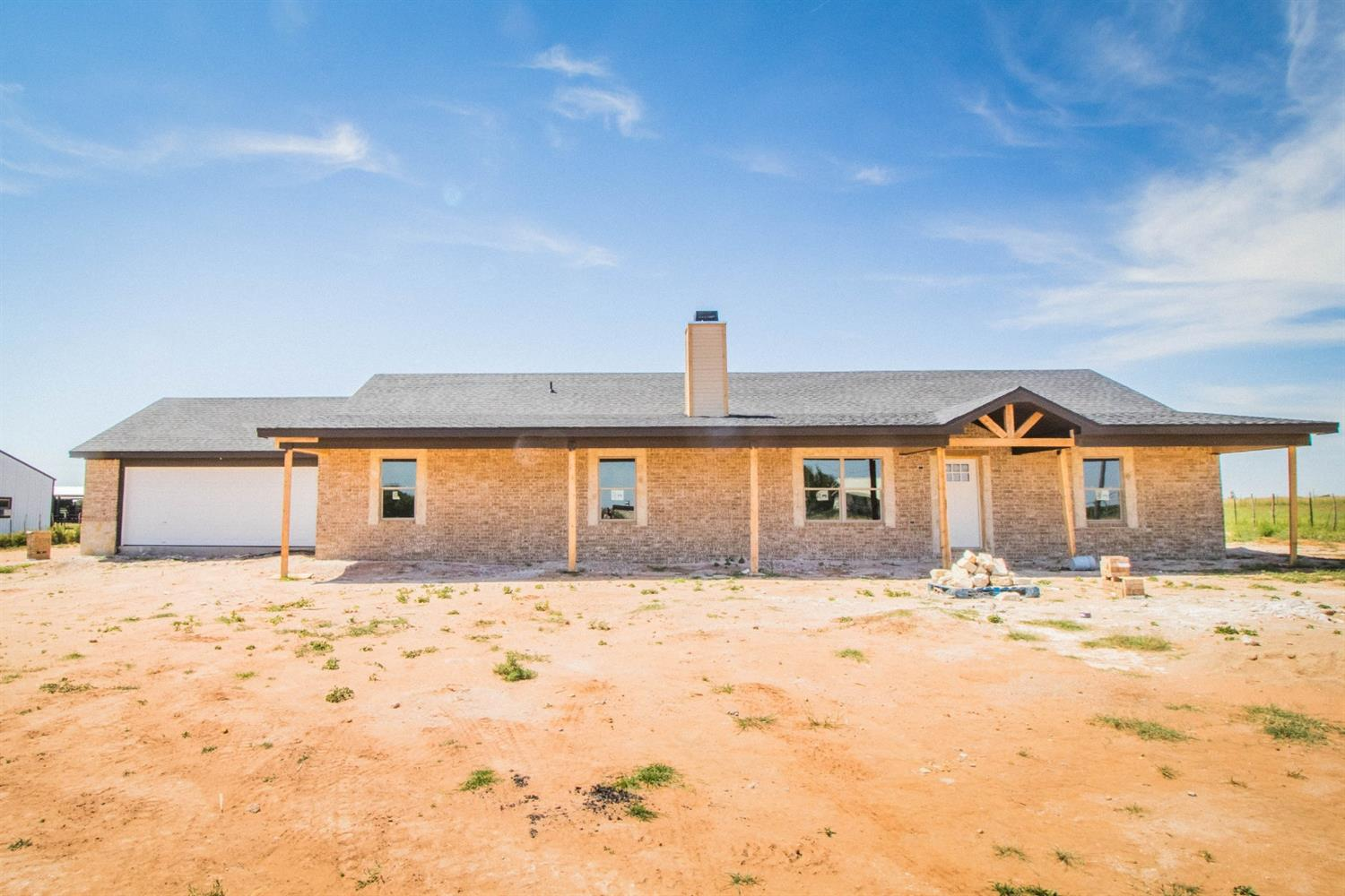 This gorgeous new construction home located in the desirable Shallowater ISD on 1 acre has it all! The open concept living room and kitchen are complete with a bricked fireplace and vaulted ceilings. Escape to the isolated master that features a large wrap around closet, oversized walk in shower ,and double vanities. The large laundry room includes extra storage space and room for a fridge. Relax and enjoy the wide open spaces on the oversized covered back patio. Estimated completion 9/1.