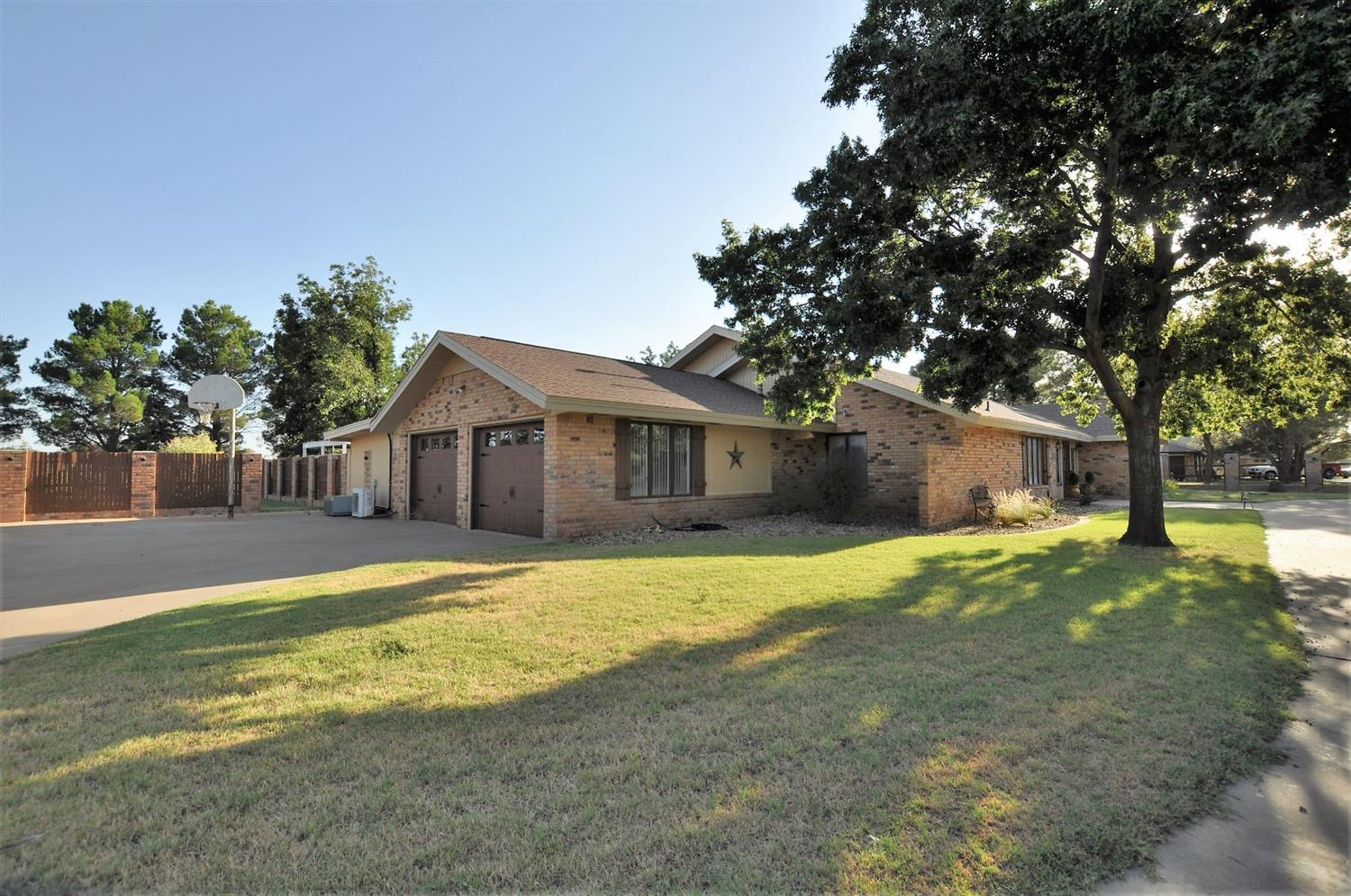 Beautiful remodeled 4054 sf. home features, 3 bedrooms, 2 1/2 bathrooms, 2 dining areas, office, huge basement, large 25 X 50 shop with 2 overhead doors (large enough to store big camper), dumping station on one acre of land in Levelland. Kitchen features, granite counter tops, dishwasher, garbage disposal, trash compactor, built in rangetop, microwave and oven. Backyard is fenced and has an awesome pool recently installed, covered porch, mature trees, nice shed and sprinkler system. Lot of parking area including RV or trailer parking. This home is a must see! Call today to schedule your private tour.