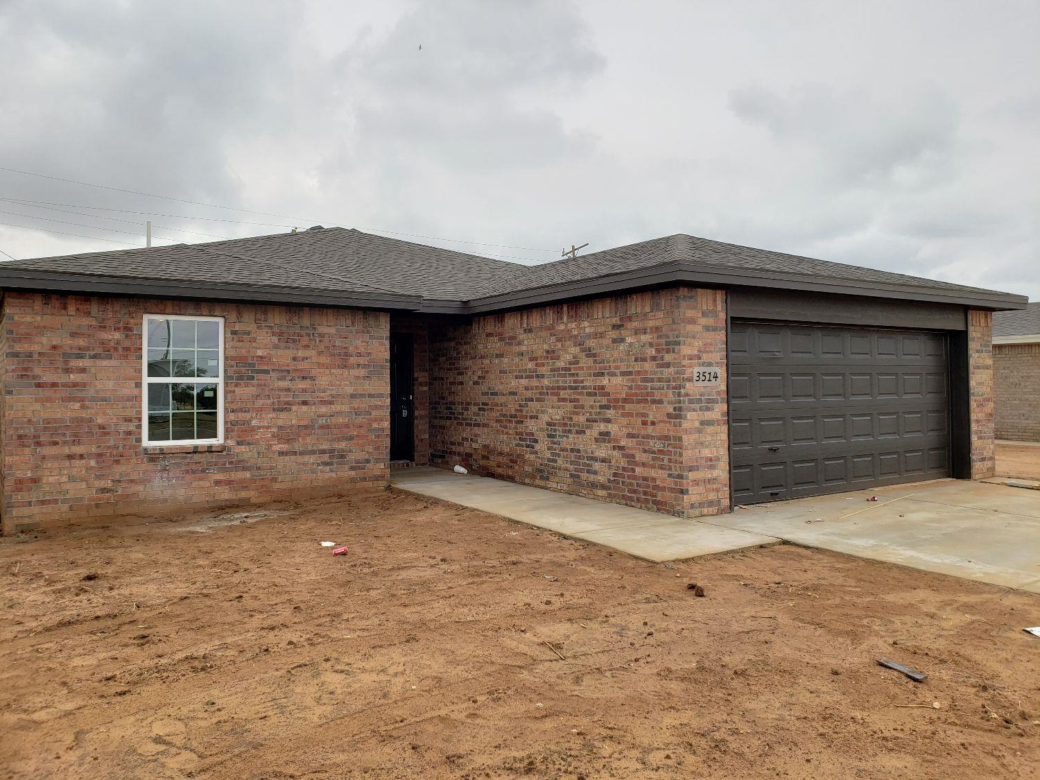 Another new construction home by Hargrove Homes! Charming 3/2/2 with spacious master suite featuring 2 great master closets! Wonderful kitchen with island peninsula, stainless appliances, and pantry. Living area is open to kitchen and eating area. Beautiful brick exterior and fenced back yard. You are going to love this quality home with terrific floorplan! Don't delay ... call today!