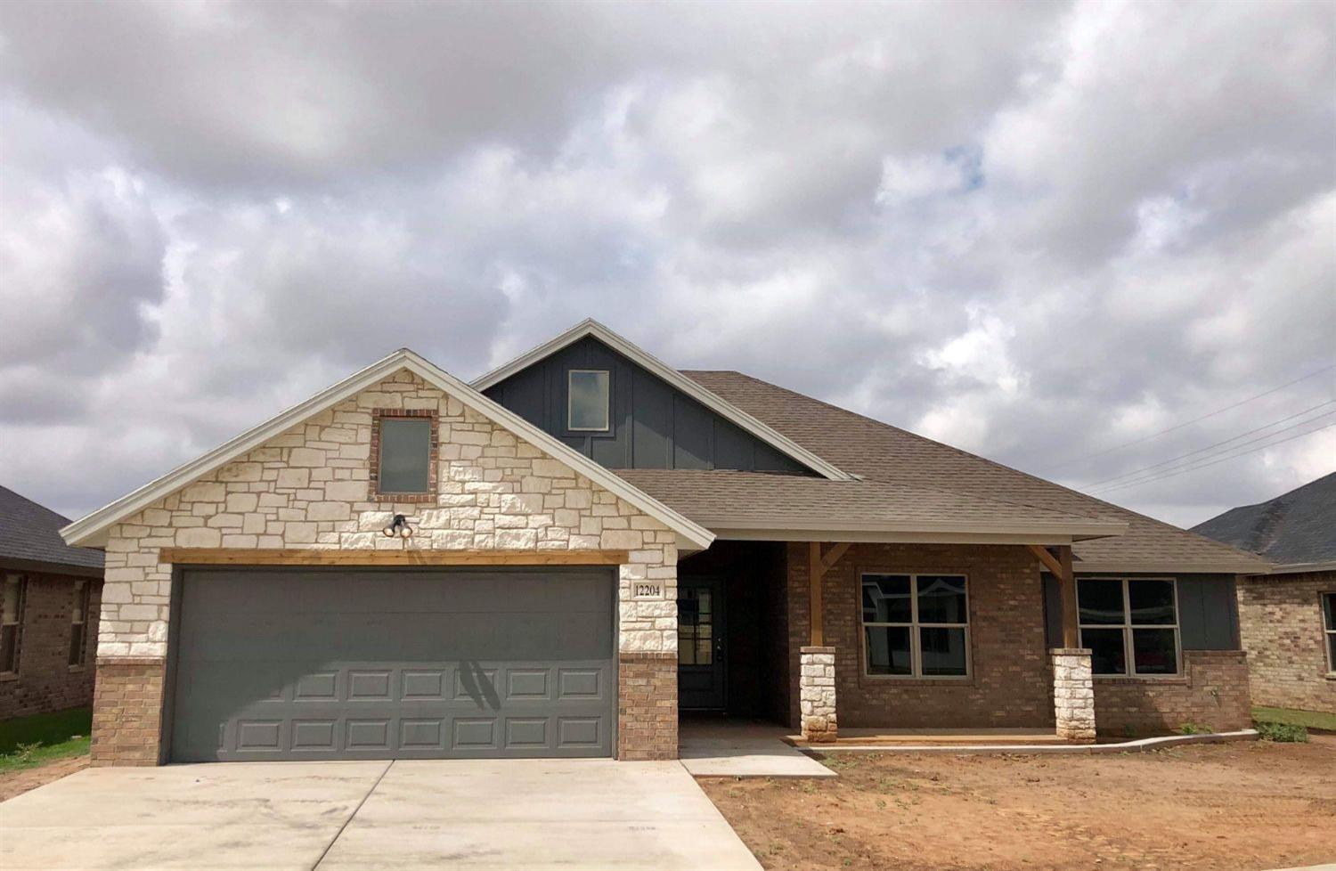Beautiful New Home Built by Odyssey Homes in Lubbock - Cooper ISD on a quiet cul-de-sac street.  This home boasts an open concept floor plan with a large family room that features a vaulted ceiling. The family opens into the kitchen which has a center island with seating that provides a great place for additional guests.  There is also a bonus room that has tons of natural light and could be used for many different purposes. Just off the bonus room is a cedar pergola covering the back patio.  The large master suite has a vaulted ceiling and includes separate vanities and a garden tub along with a large walk-in closet. Sod, sprinkler system, 6' fence with steel posts included.