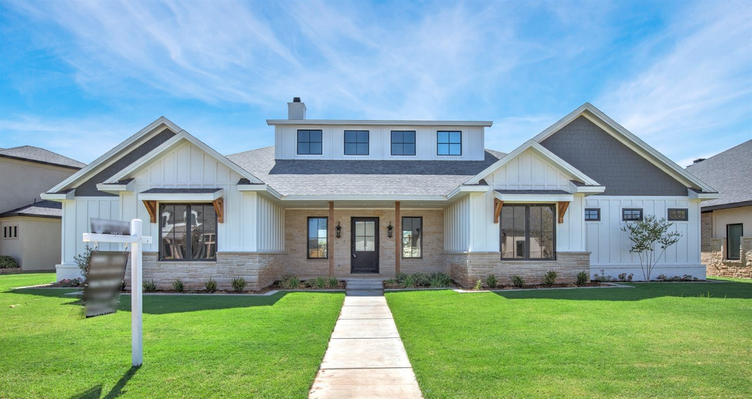 Modern Farmhouse style located in prestigious Oakmont Estates. New construction built by Mitchell Anderson. This home has soaring ceilings.  Entertainers kitchen with stainless appliances.  Sub zero refrigerator.  Beautiful warm gray colors.  Gorgeous dark hardware compliments the warm color of the cabinets.   4 bedroom 3 bath 3 car garage with covered rear parking.   Fireplace on patio and outdoor kitchen.  Open style concept with beautiful open kitchen perfect for entertaining. Quartz counter tops. This home also has a storm room and security system!  Room for a pool.  Hurry to see this beautiful home!