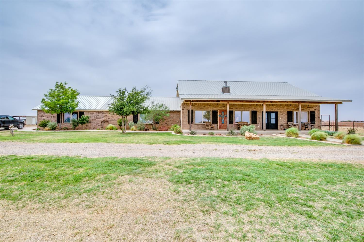 Awesome home on 5 acres in New Home School District!! 4 bedroom, 3 bath, 2 living areas. Awesome barn set up perfect for show animals and also has living quarters in it. All fenced and ready for a new owner!