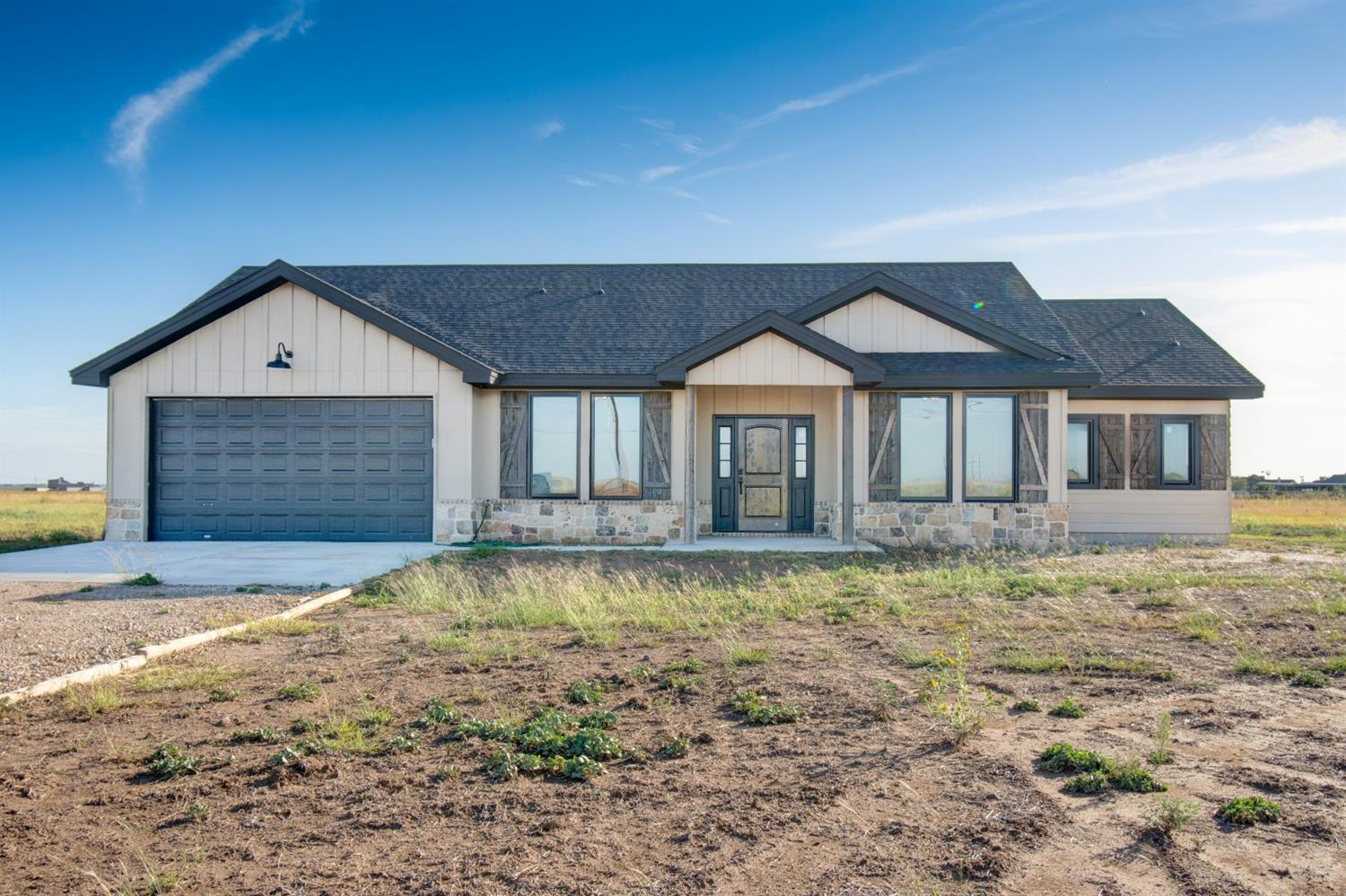 Brand new construction! Custom home on over 10 acres with room to roam and enjoy those perfect West Texas sunsets. From the time you open the door you are greeted with a neutral color palette and lots of natural light, soaring ceilings and the perfect stone fireplace. This open concept home makes for the perfect entertaining house. Hurry and see this house before it is to late. Be moved in before the holidays! Seller to offer up to $5,000 in closing cost assistance with an acceptable offer.