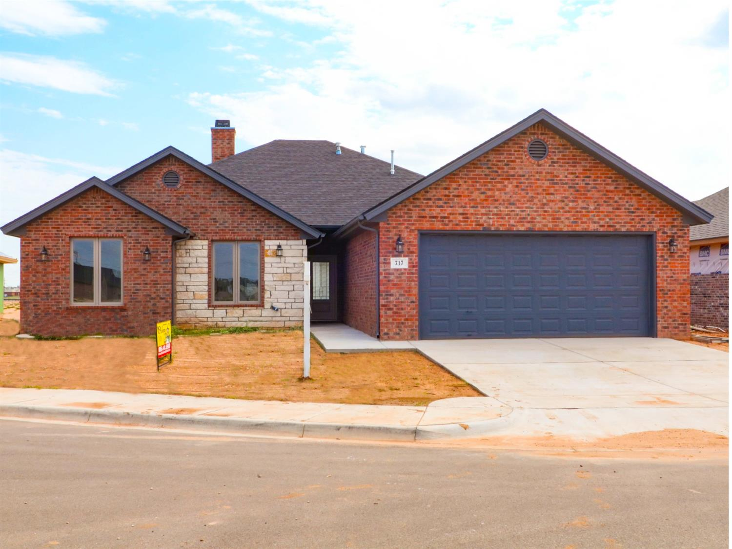 Alexis Homes of Lubbock presents this Incredible Home...Warm and Open Living Area and Awesome Kitchen w/double ovens, gas cooktop, great pantry, and a MASSIVE Granite Island....Isolated Master Suite w/Separate Tub & Huge Shower, His/Her Vanities, and Wrap Around Closet w/Two Built-in Dressers....Large Additional Bedrooms... Spray Foam Insulation in the Attic for those low,Low,LOW utility bills... 20' X 12' Covered Patio....Fence, Sod and Sprinkler System coming next week!