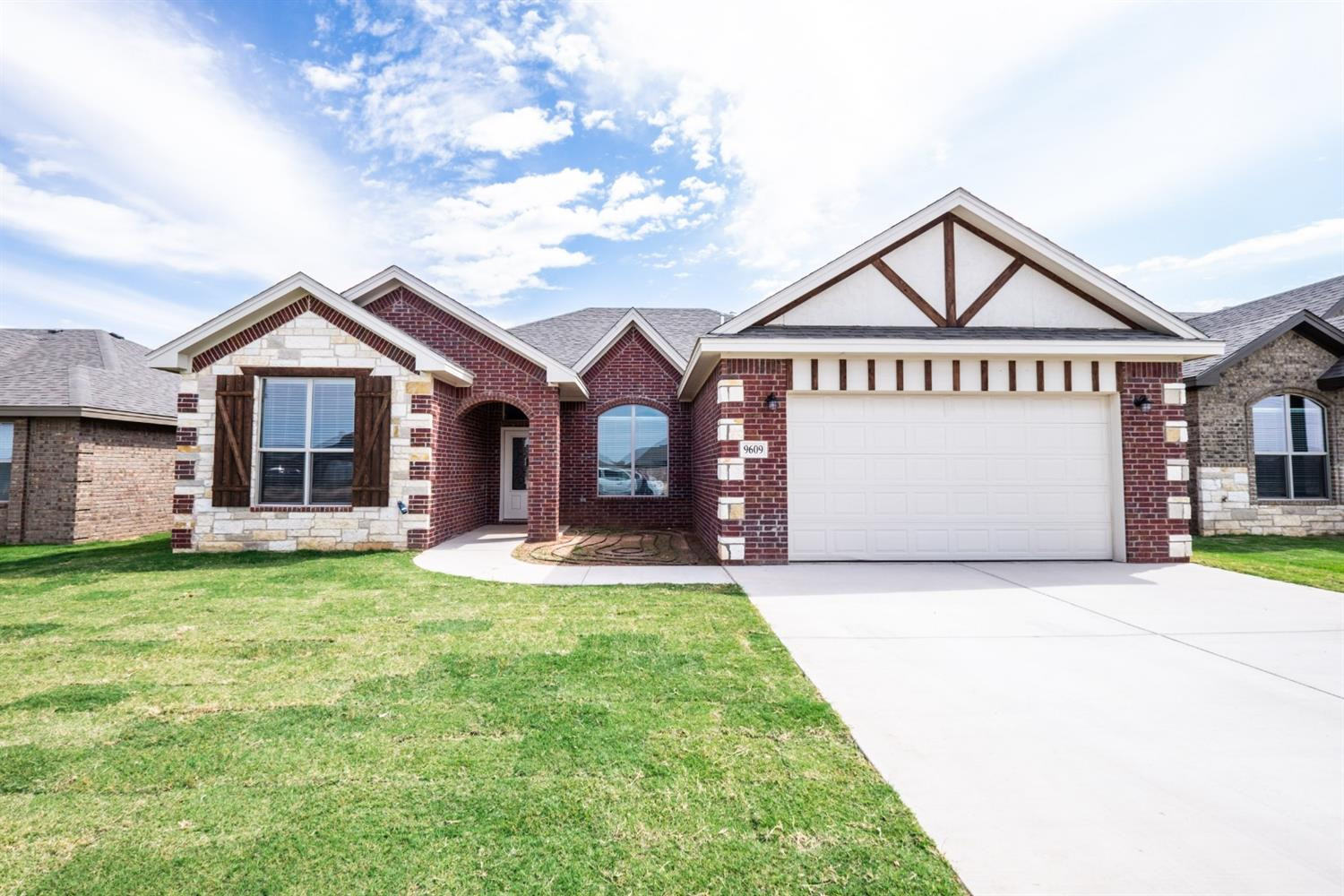 New construction 3 bedroom, 2 bathroom, and 2-car garage (rear entry) home in Day Estates neighborhood. Built for comfort and style, this beautiful brick and stone home has an open concept with 10' ceilings throughout entire house. Located in Frienship ISD, making it a great location! Special features include: double ovens in kitchen, electric fireplace with oak mantle, granite countertops throughout, walk-in closet in Master bedroom, a jet tub in master bath, and vinyl plank flooring in living room and kitchen.