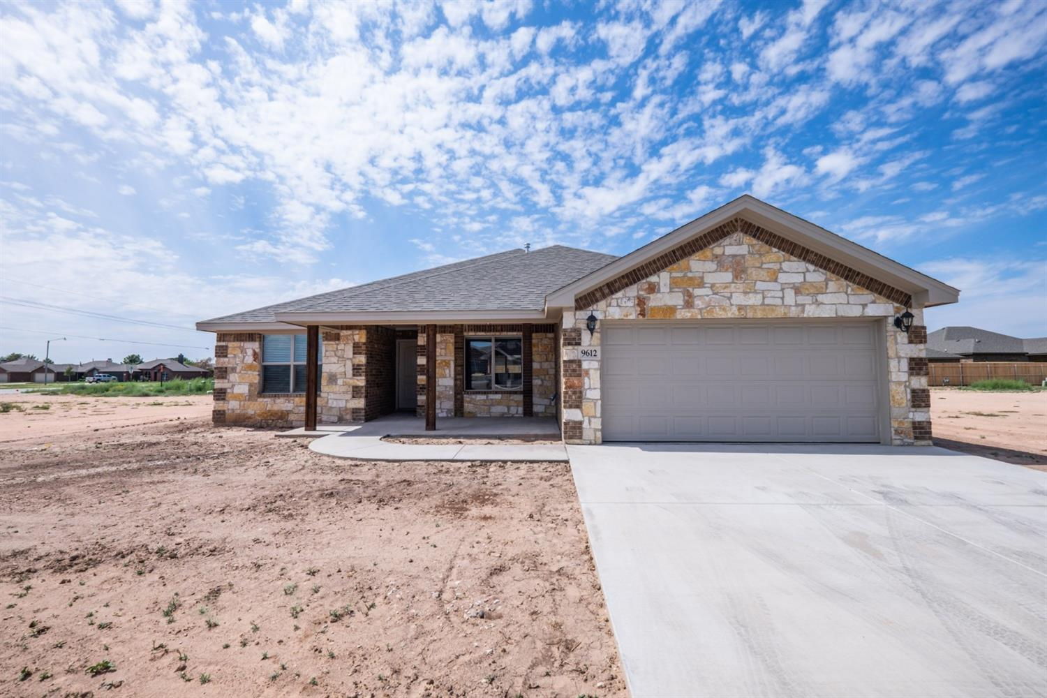 New construction 3 bedroom, 2 bathroom, and 2-car garage home in Day Estates neighborhood. Built for comfort and style, this beautiful brick and stone home has an open concept with 10' ceilings throughout entire house. Located in Frienship ISD, making it a great location! Special features include: double ovens in kitchen, electric fireplace with oak mantle, granite countertops throughout, walk-in closet in Master bedroom, a jet tub in master bath, and vinyl plank flooring in living room and kitchen.