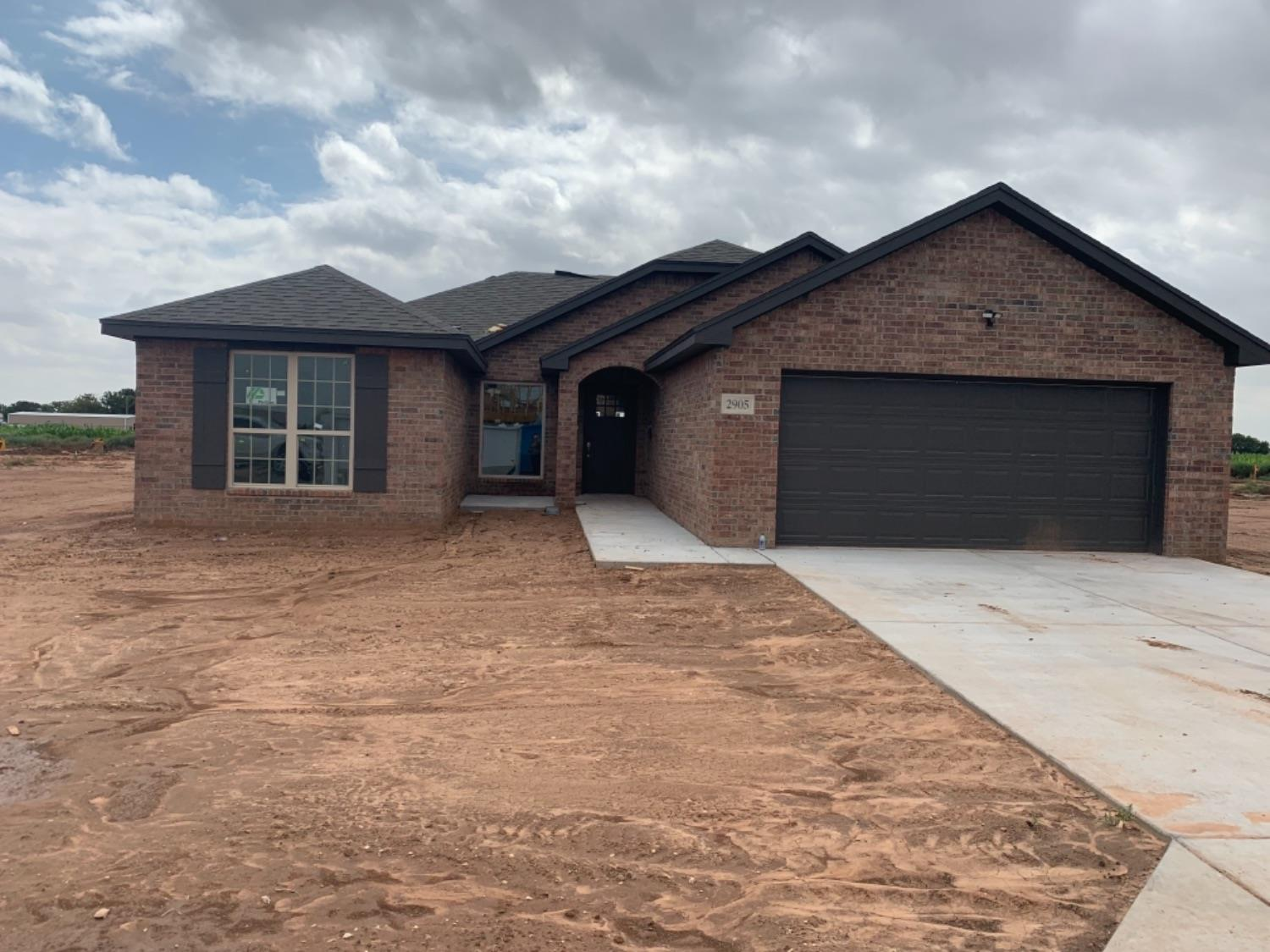 Brand new home located in Lubbock Cooper school district! Walking into this home you will be greeted with a vaulted ceiling in the living room, spacious open floor plan, tons of cabinet space in the kitchen with a large walk in pantry! The builder did not skimp on quality in this well designed home. You will find granite counter tops throughout, tiled tub surrounds, intricate details in the main area, and custom cabinets throughout the entire home. The luxury master suite is isolated with double sinks in the master, walk in closet and tiled tub surround. Secluded utility room as well as a built in desk, perfect for a homework station or an at home office!  Sprinkler, grass and fence with metal posts included! This home will not last long, call today to schedule your private showing.