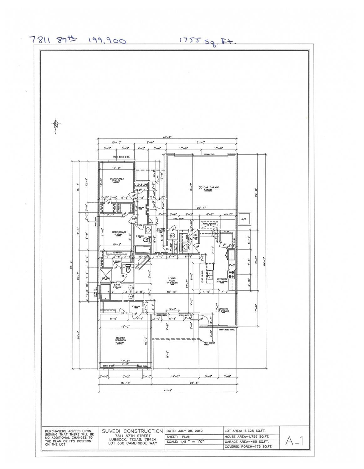 New Construction. 3/2/2, 1755 sq. ft. Estimated completion date 1/15/20.