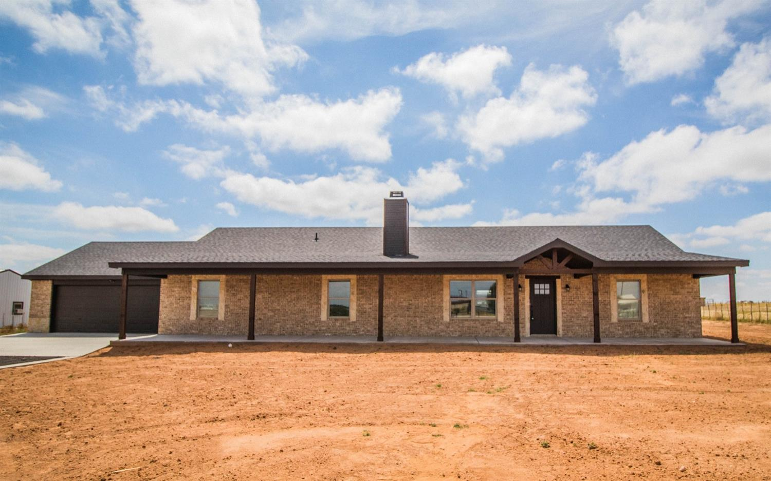 This gorgeous new construction home located in the desirable Shallowater ISD on 1 acre has it all! The open concept living room and kitchen are complete with a bricked fireplace and vaulted ceilings. Escape to the isolated master that features a large wrap around closet, oversized walk in shower ,and double vanities. The large laundry room includes extra storage space and room for a fridge. Relax and enjoy the wide open spaces on the oversized covered back patio.