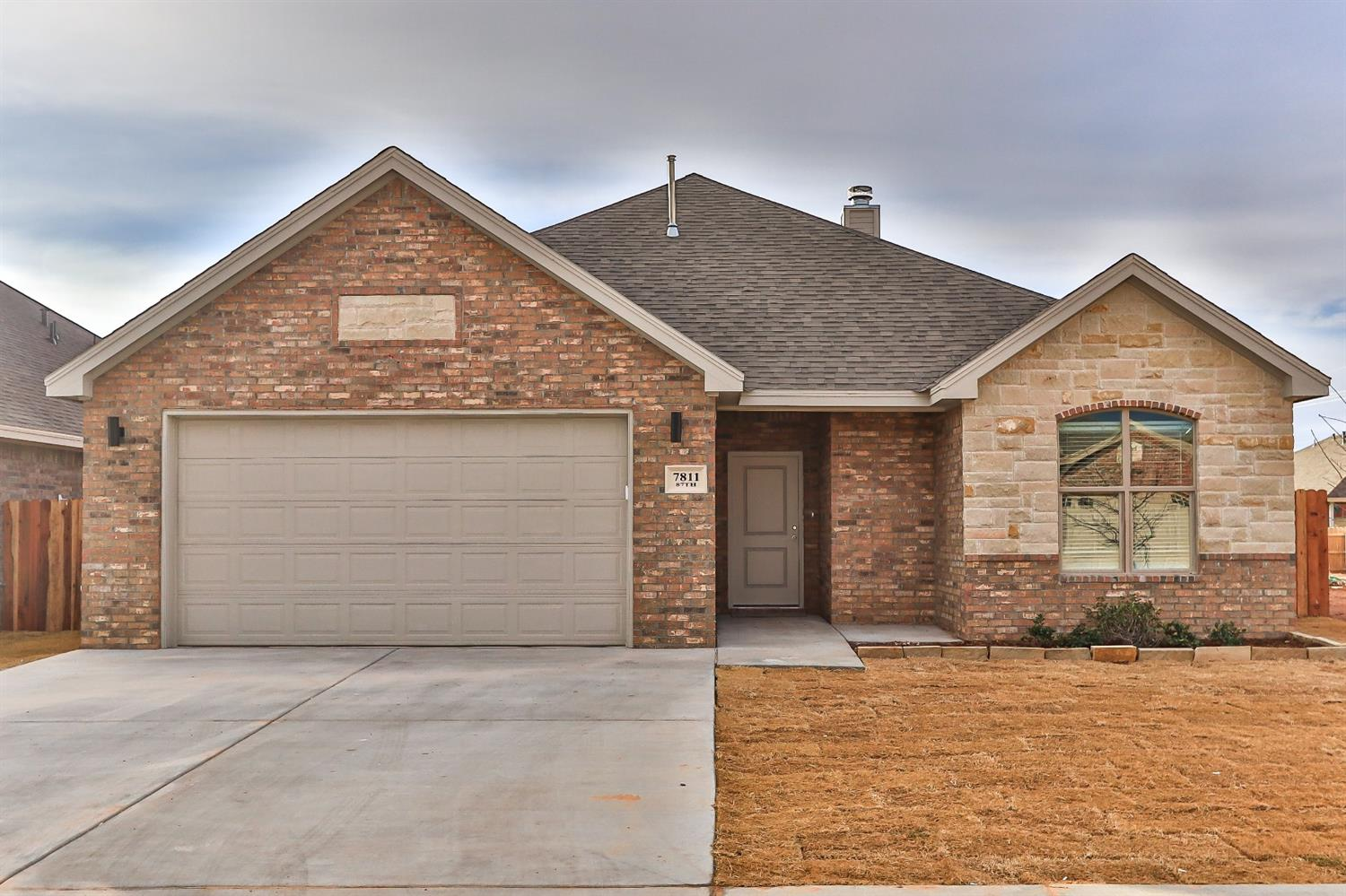 Construction complete in Cambridge Way and ready for a new owner. This 3/2/2 open concept home offers stainless steel appliances (buyer chooses gas or electric free standing range), pantry, island, quartz countertops. Isolated Master w/walk-in closet. Window coverings throughout. Landscaped, sod, fence, sprinkler system.